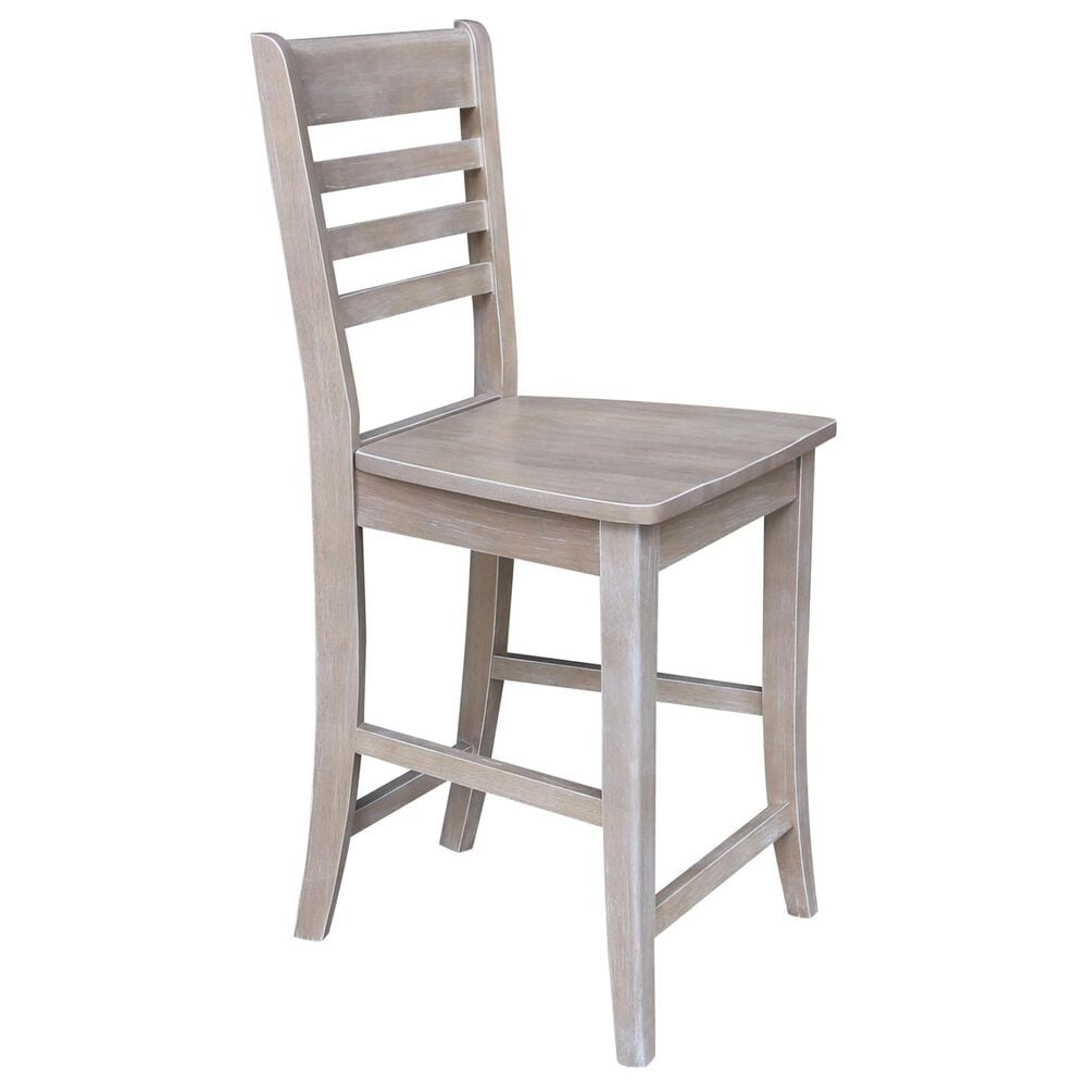"""International Concepts Cosmo 24"""" Counter Stool in Washed Gray Taupe, , large"""
