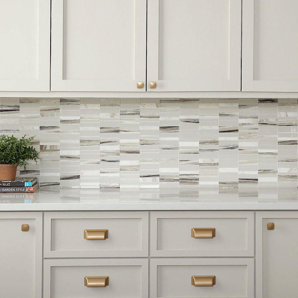 "Dal-Tile SimplyStick Daphne White 12""x12"" Straight Stack Mosaic Sheet, , large"