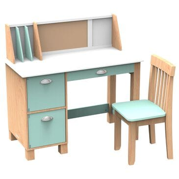 Kidkraft Study Desk with Chair in Mint, , large