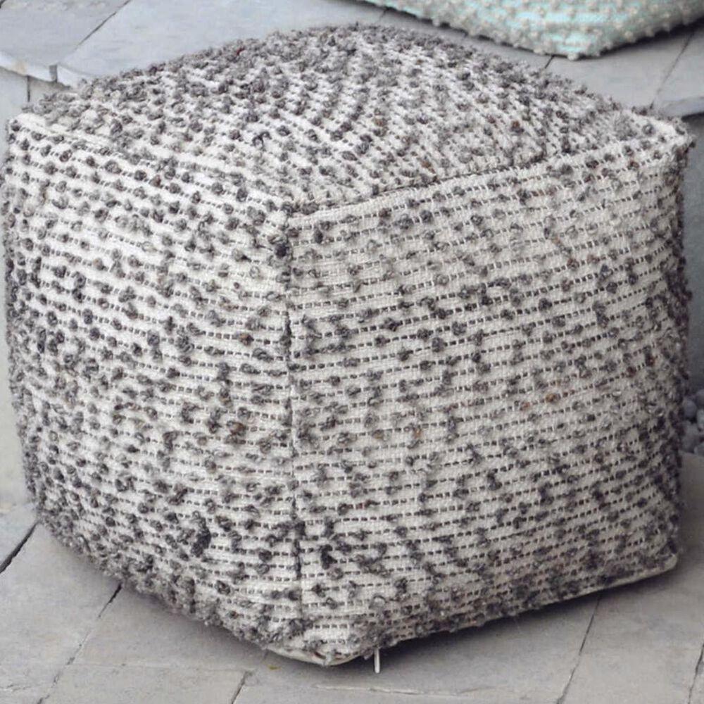 Uttermost Valda Pouf in Linen Wool , , large