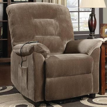 Pacific Landing Power Lift Recliner in Brown Sugar, , large