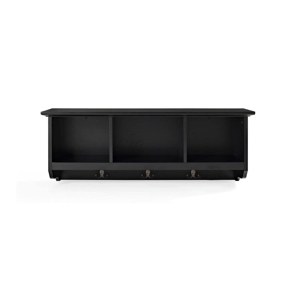 Crosley Furniture Brennan Entryway Storage Shelf in Black, , large