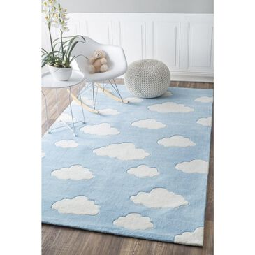 Little Dreamer Cine BHEV28A-508 5' x 8'  Blue Area Rug, , large