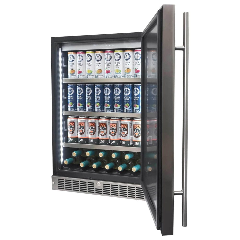 Silhouette 5.5 Cu. Ft. Built-In Compact Refrigerator in Stainless Steel and Black, , large
