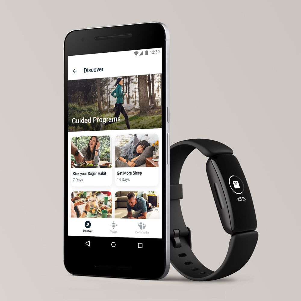 Fitbit Inspire 2 Fitness Tracker in Black, , large