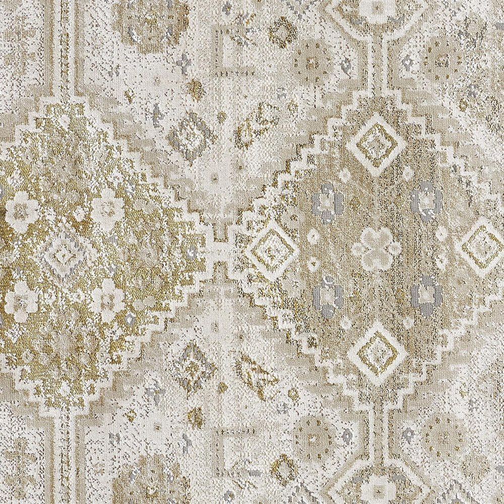 Feizy Rugs Aura 3738F 5' x 8' Gold and Ivory Area Rug, , large
