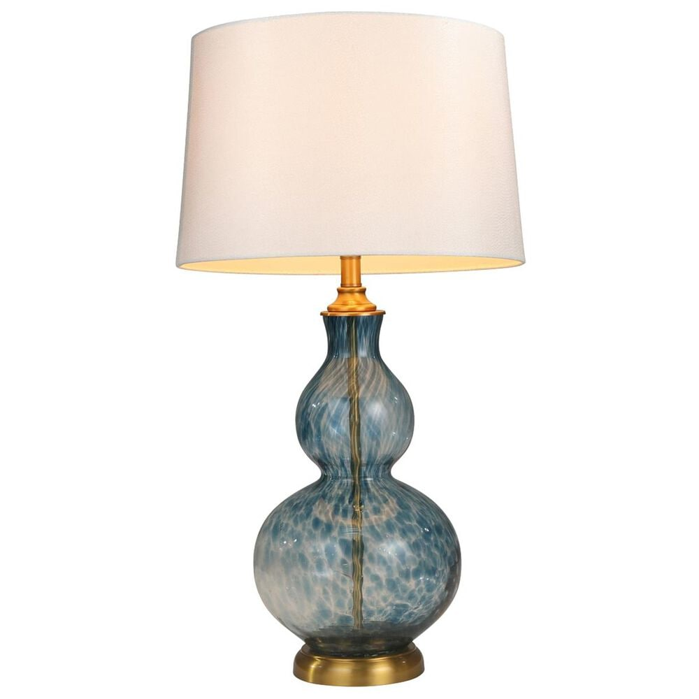 """Sagebrook Home 30"""" Table Lamp in Blue with White Shade, , large"""