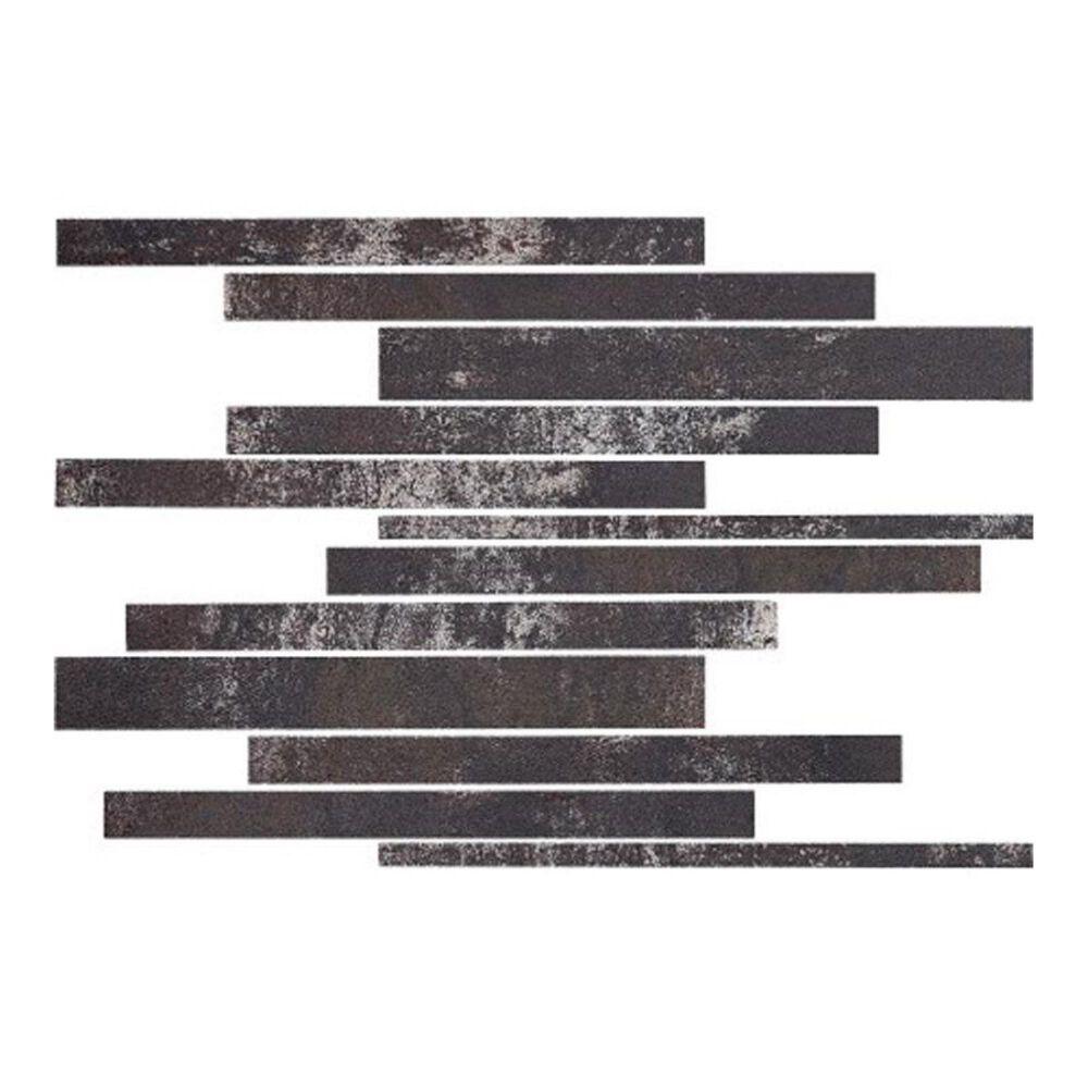 """Eleganza Metallica Black 12"""" x 12"""" Porcelain Mosaic Sheet, , large"""