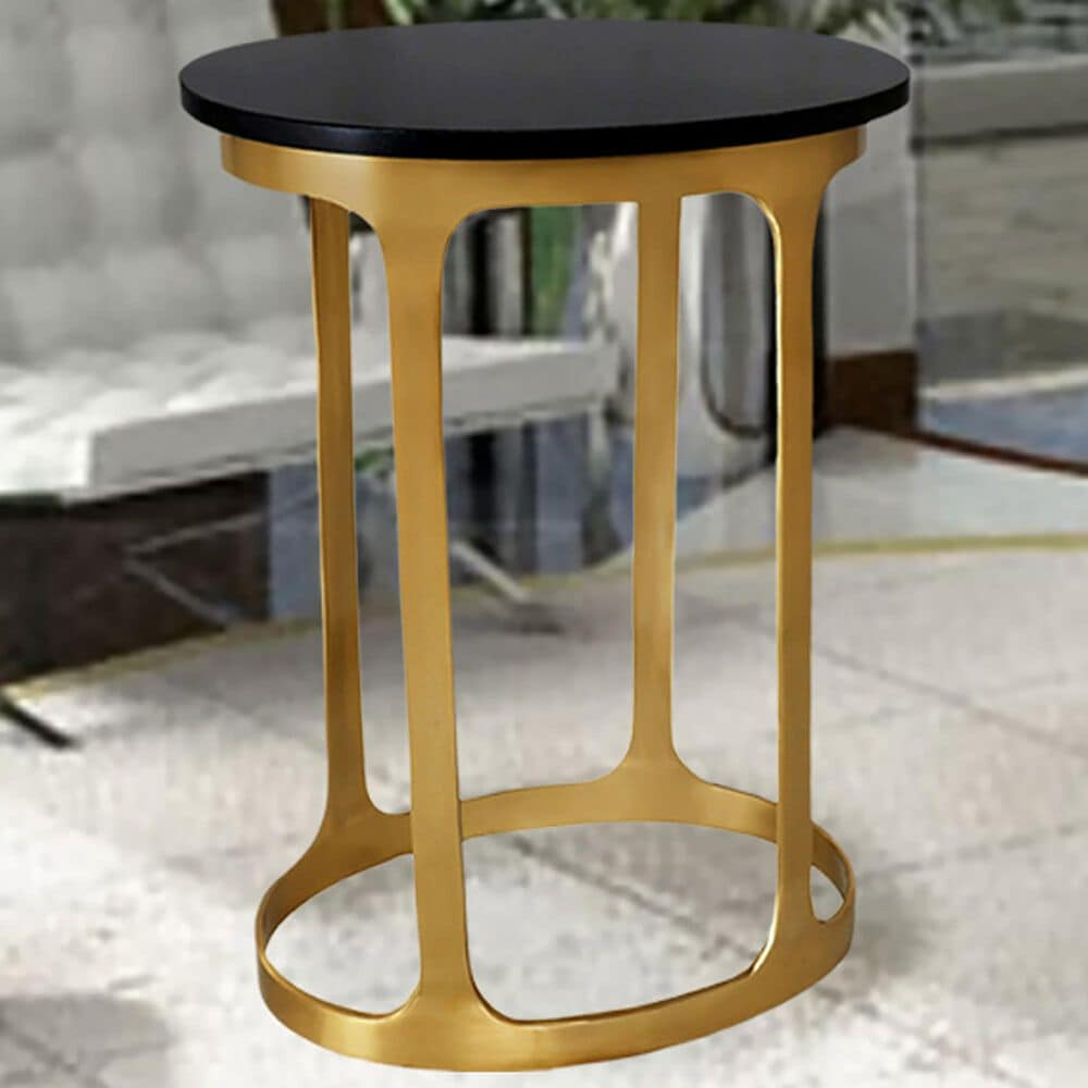 Carolina Chair and Table Oaklynn Accent Table in Black and Gold, , large