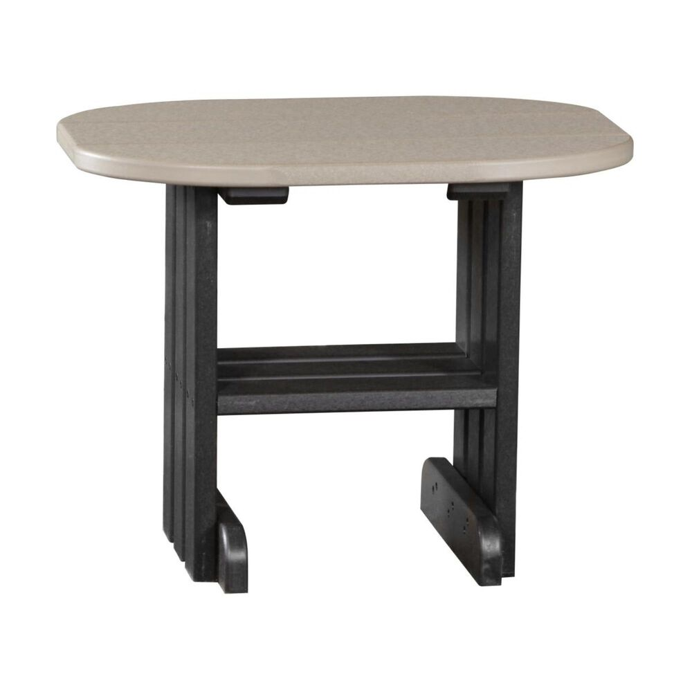 Amish Orchard Oval Outdoor Side Table in Black, , large