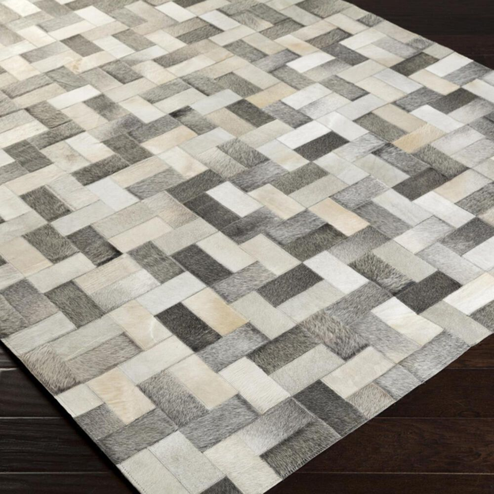 Surya Outback OUT-1012 2' x 3' Light Gray Scatter Rug, , large