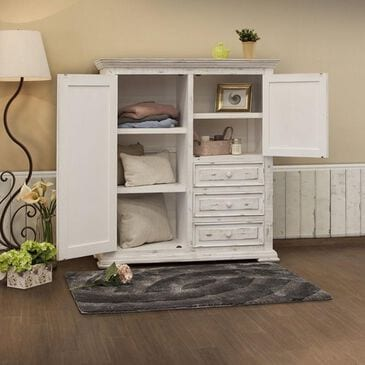 Fallridge Pueblo White Gentleman's Chest in White Distressed, , large