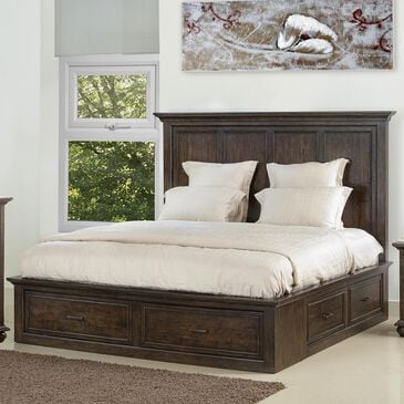 Samuel Lawrence Chatham Park King Storage Bed in Chattered Tobacco, , large