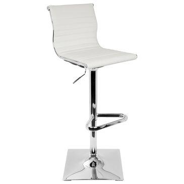 Lumisource Master Adjustable Barstool in White/Chrome, , large