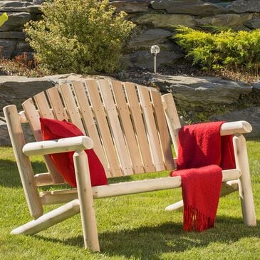 Bestar Outdoor White Cedar 4' Bench in Natural, , large