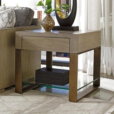 Lexington Furniture Shadow Play Empire Square End Table in Taupe and Gray, , large