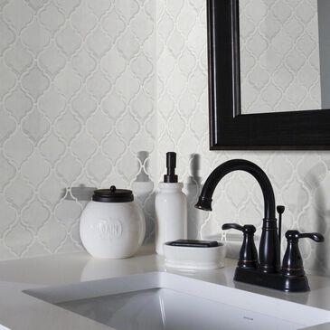 "Shaw Geoscape Lantern White 10.83"" x 11.81"" Ceramic Mosaic Sheet, , large"