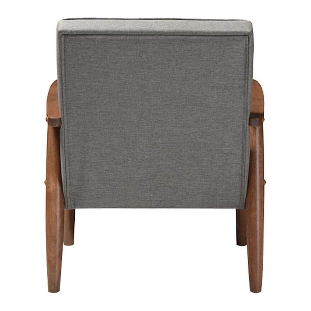 Baxton Studio Sorrento Upholstered Lounge Chair in Grey Fabric, , large