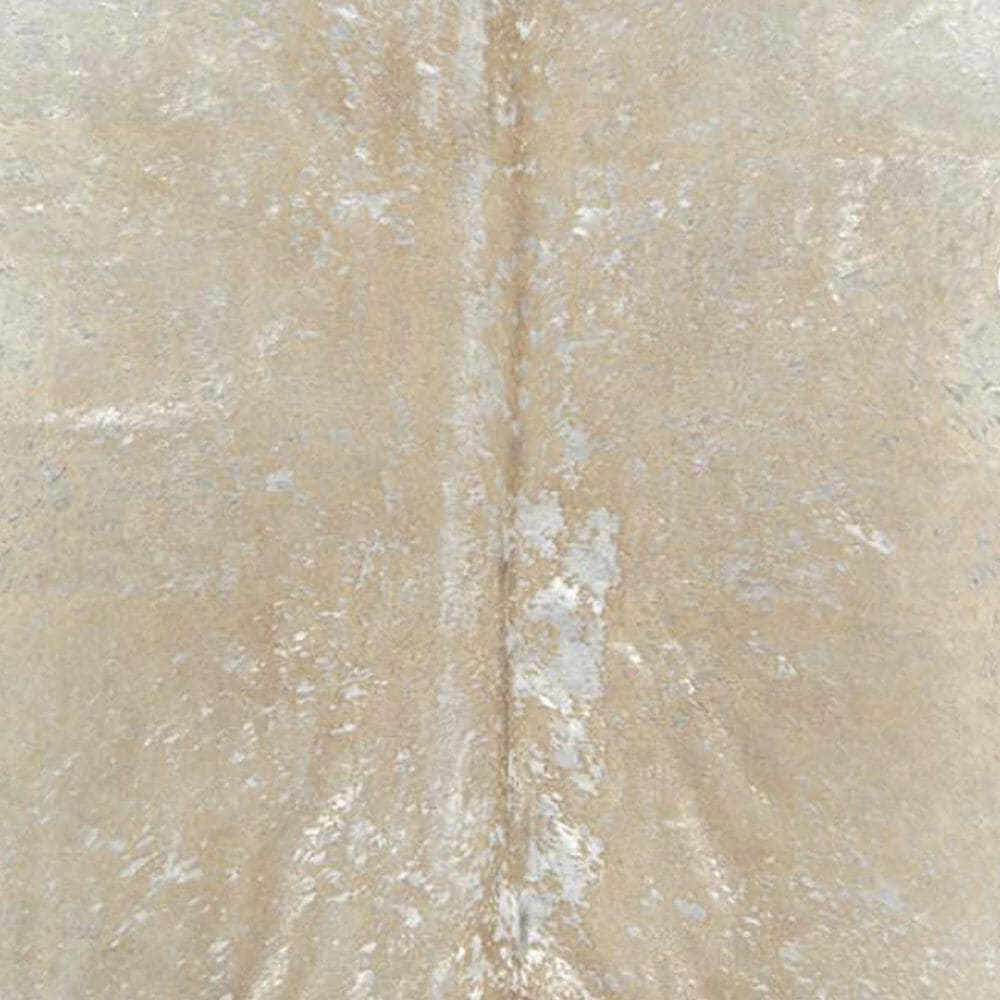 Nourison Couture BR100 5' x 8' Beige and Silver Hide Area Rug, , large