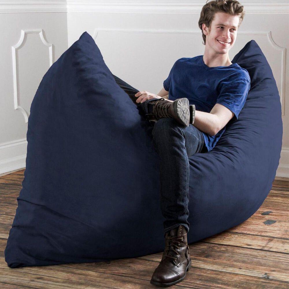 Jaxx 5.5' Pillow Bean Bag Pillow in Navy, , large