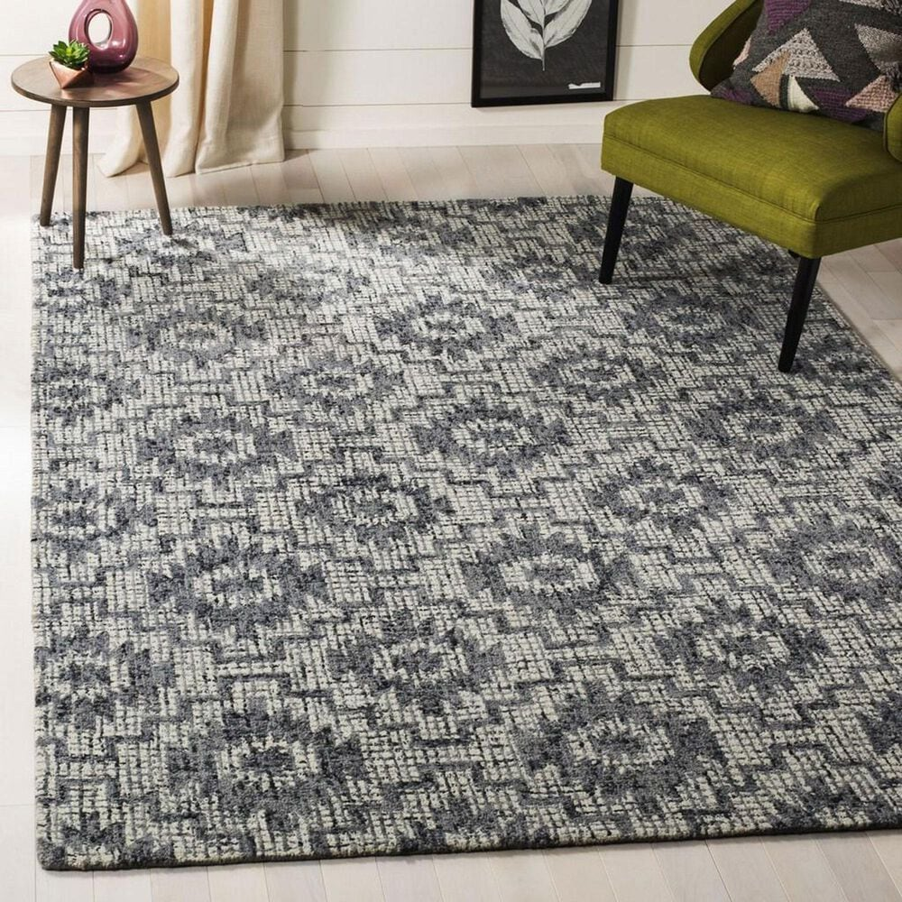 Safavieh Abstract 5' x 8' Ivory and Dark Grey Area Rug, , large