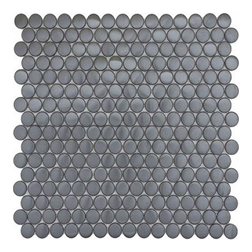 "Emser Gleam Graphite 12"" x 12"" Metal Mosaic Sheet, , large"