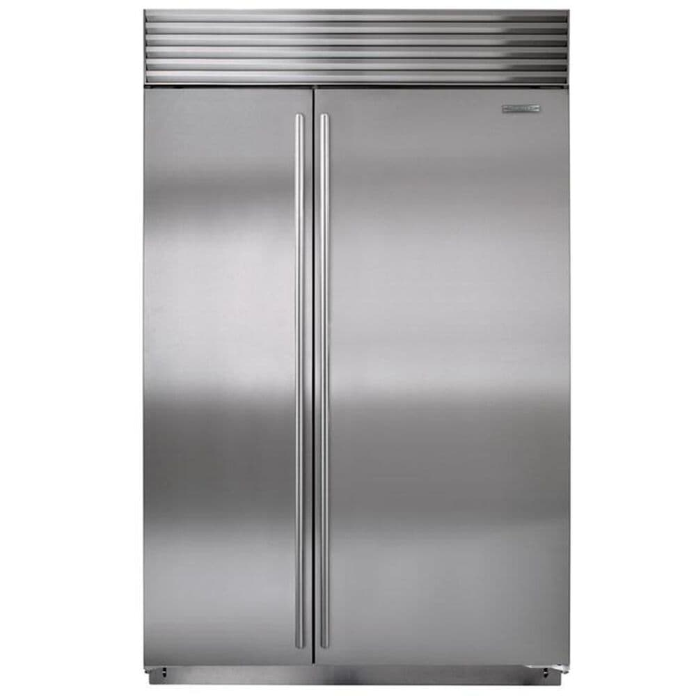 "Sub Zero 48"" Built-in Side by Side Refrigerator with 4 Adjustable Spill-Proof Glass Shelves, , large"