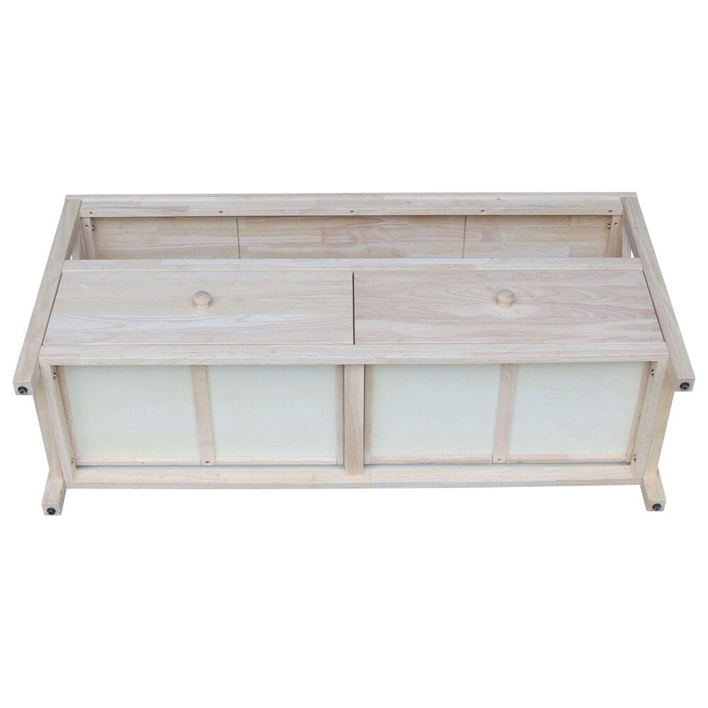 """International Concepts Hampton 54"""" TV Stand in Unfinished, , large"""