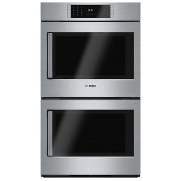 "Bosch 30"" Benchmark Series Double Wall Oven Right Swing Door, , large"
