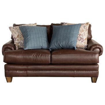 Moore Furniture Monaco Loveseat in Dark Brown, , large