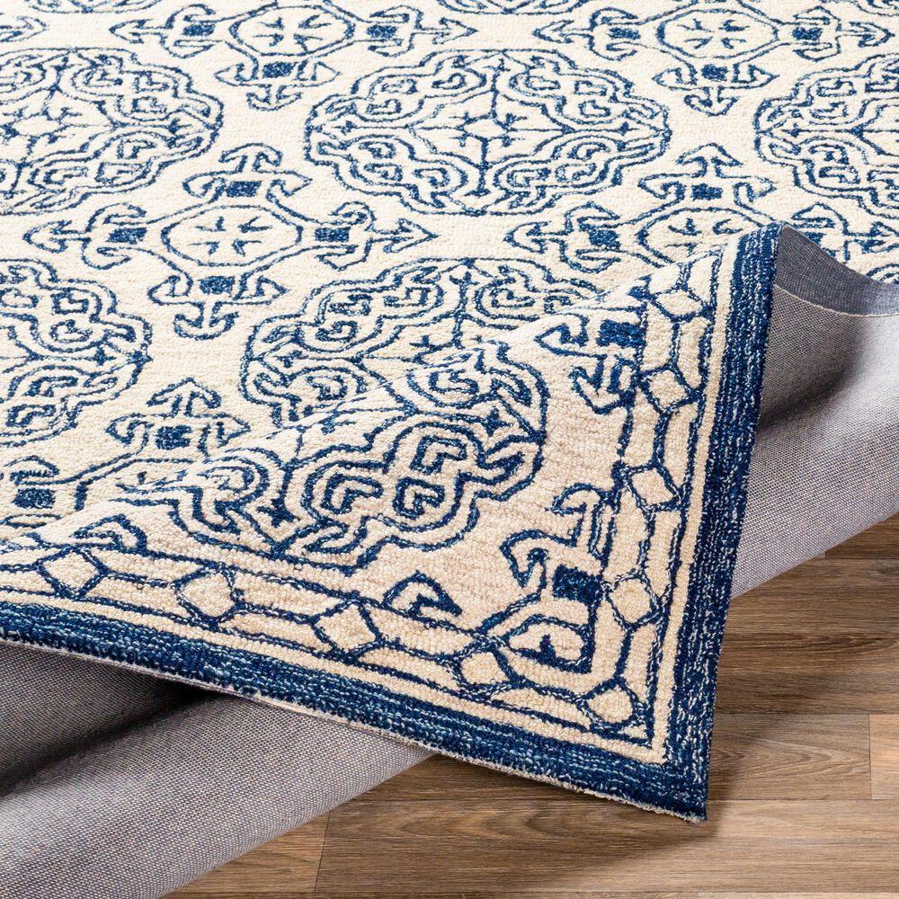 Surya Granada GND-2303 8' x 10' Dark Blue, Denim and Ivory Area Rug, , large