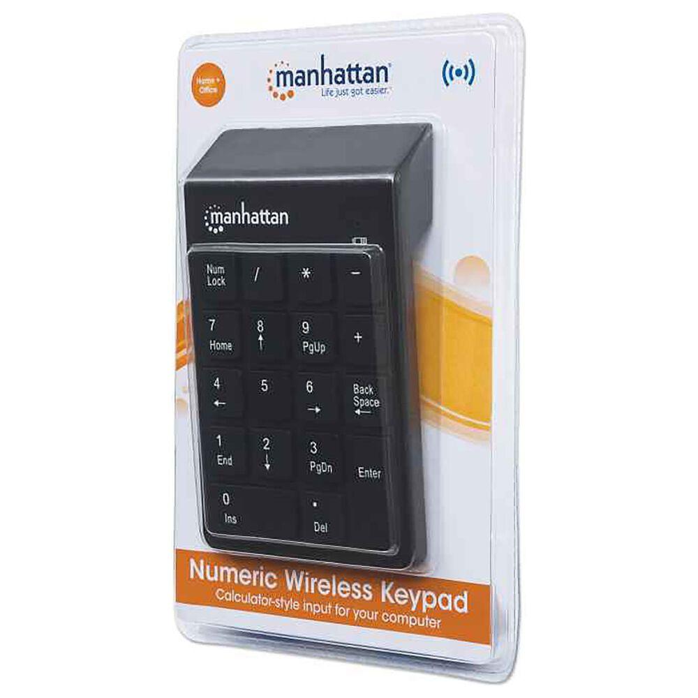 Manhattan Numeric Wireless Keypad in Black, , large