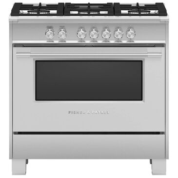 """Fisher and Paykel 36"""" Freestanding Classic Gas Ranges in Stainless Steel, , large"""