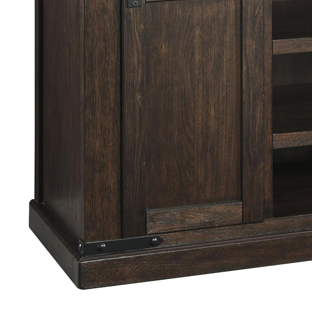 Signature Design by Ashley Budmore Large TV Stand in Rustic Brown, , large