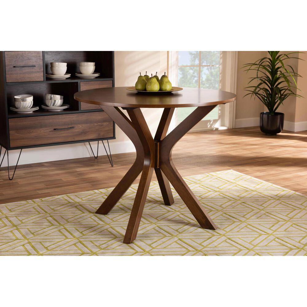 "Baxton Studio Kenji 35"" Dining Table in Walnut, , large"