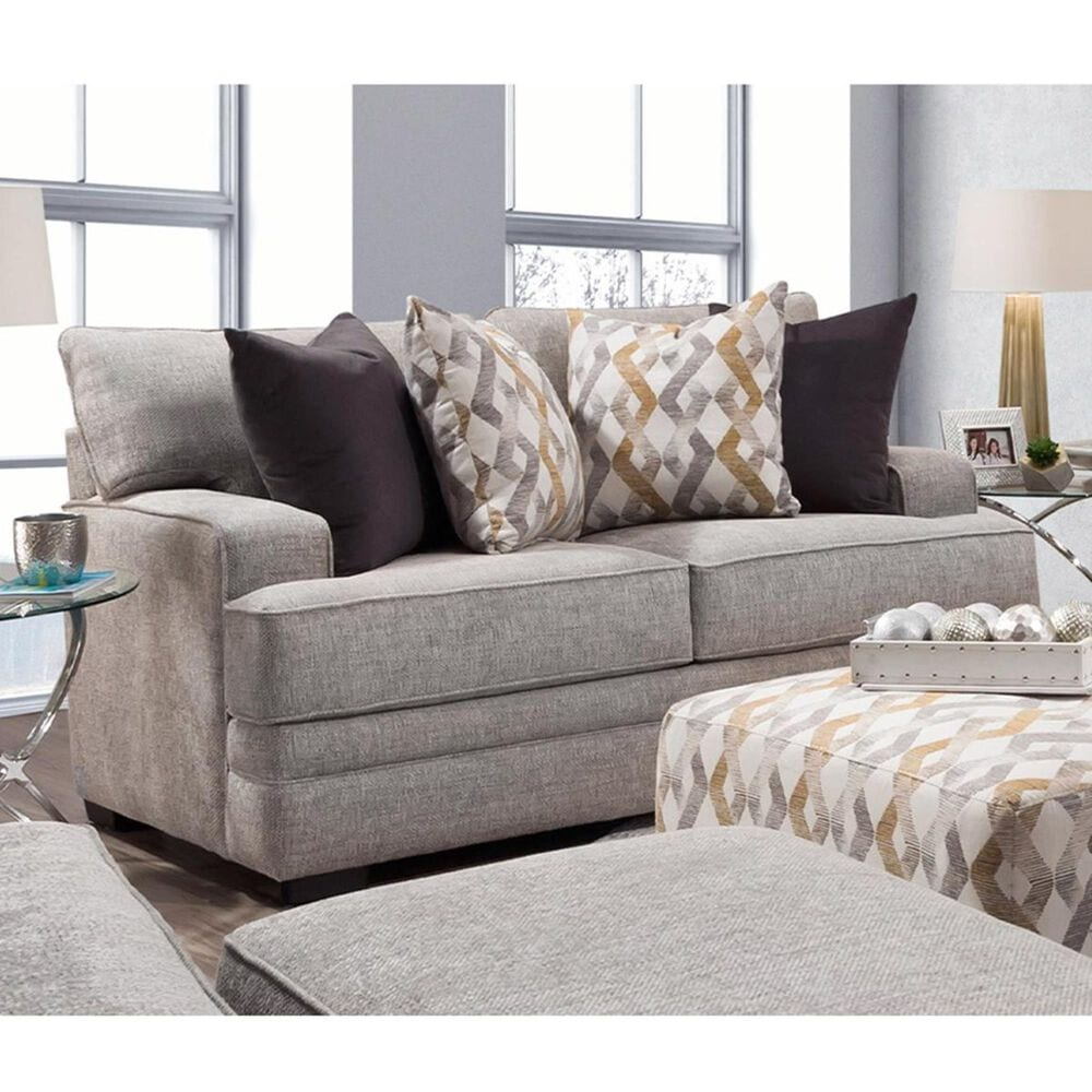 Moore Furniture Protege Stationary Loveseat in Dove, , large