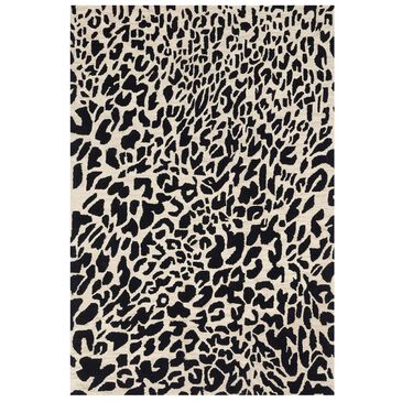 "Loloi Masai MAS-02 7'9"" x 9'9"" Black and Ivory Area Rug, , large"