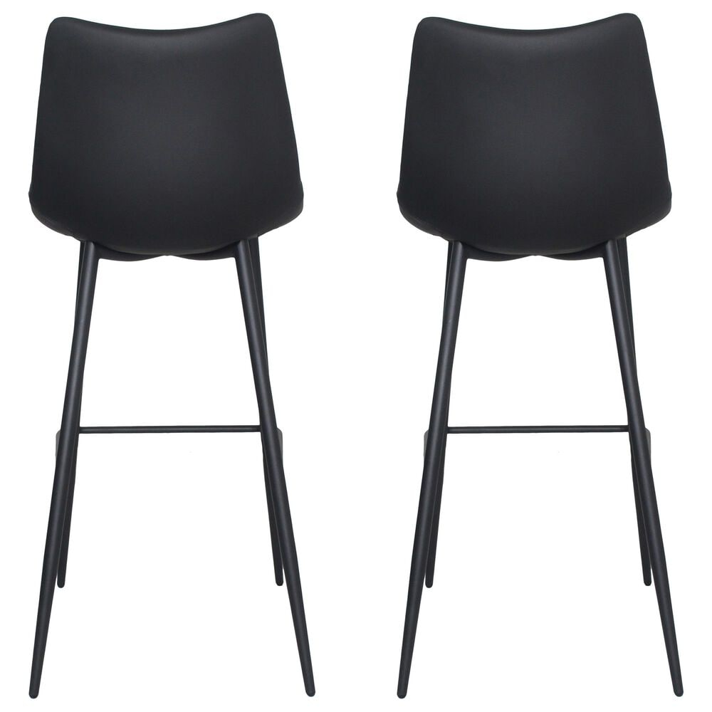 Moe's Home Collection Alibi Barstool in Black (Set of 2), , large
