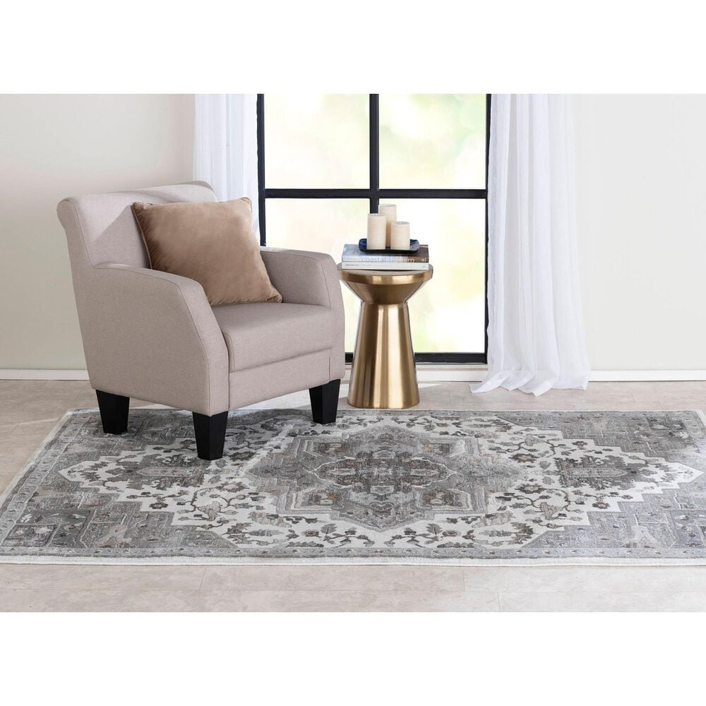 Central Oriental Adore Tansey 9266WR 5' x 8' Whitecap and Greige Area Rug, , large