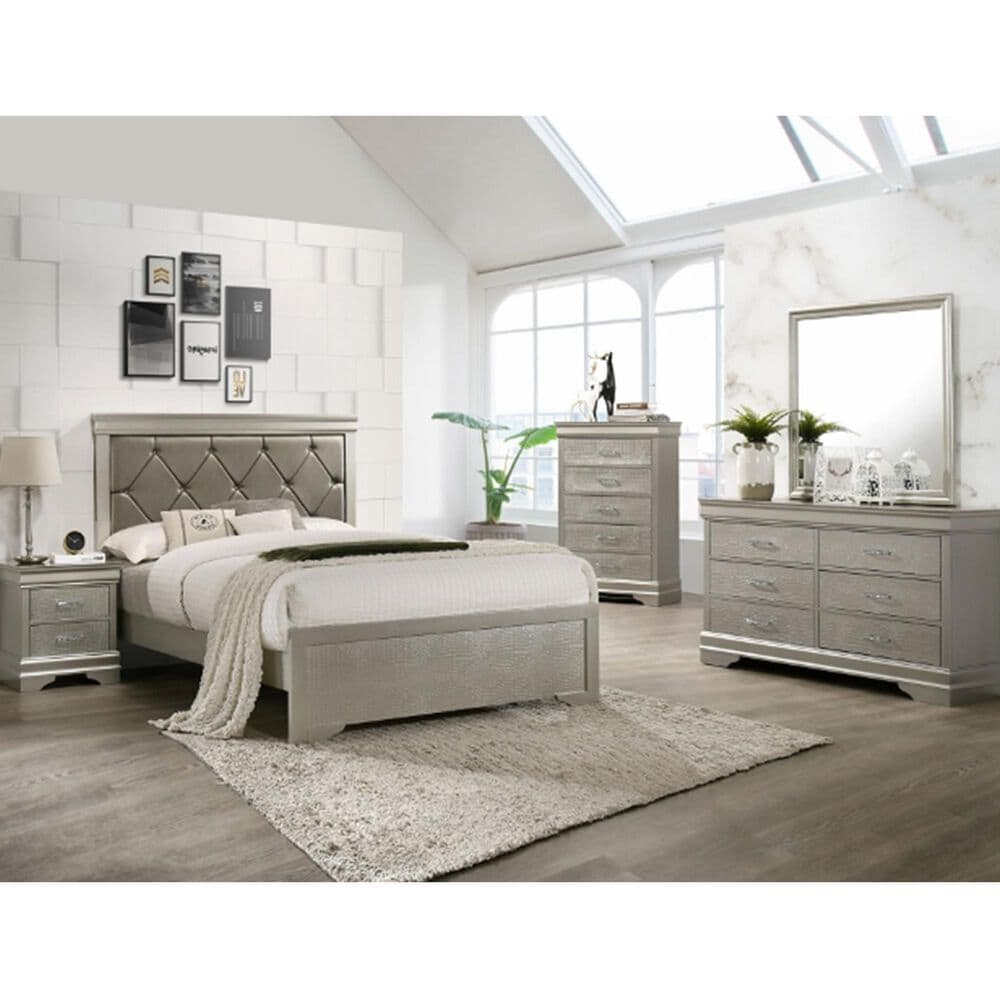 Claremont Amalia Queen Bed in Champagne, , large