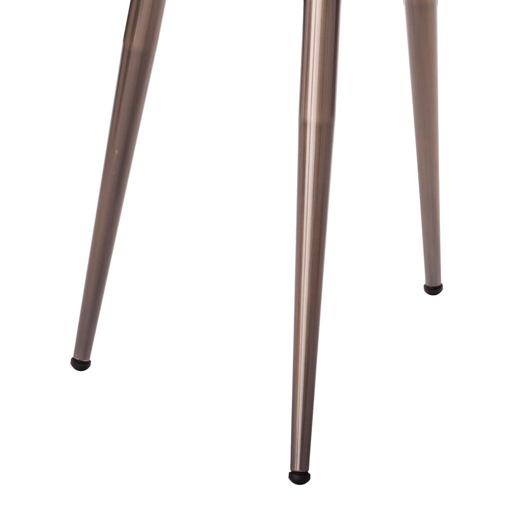Southern Enterprises Lockmere End Table in Black and Antique Brass, , large