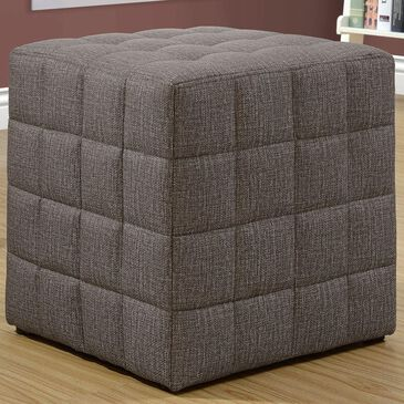 Monarch Specialties Ottoman in Brown, , large