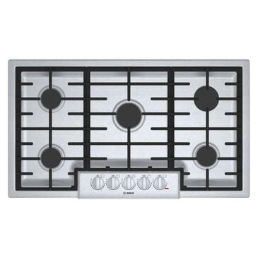 """Bosch 36"""" 5 Burner Gas Cooktop in  Stainless Steel, , large"""