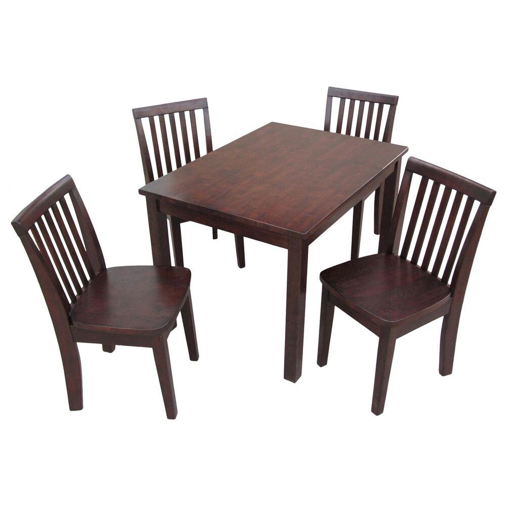 International Concepts Mission 5 Piece Juvenile Table Set in Rich Mocha, , large