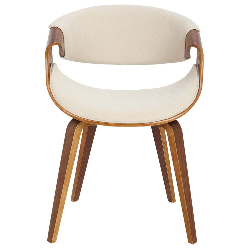 Lumisource Curvo Dining Chair in Cream/Walnut, , large