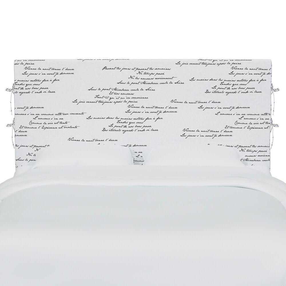 Skyline Furniture Queen Slipcover Headboard in Mirabeau Cream, , large