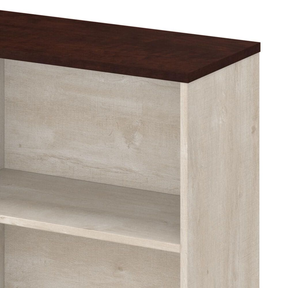 Bush Townhill 2-Shelf Bookcase in Washed Gray, , large