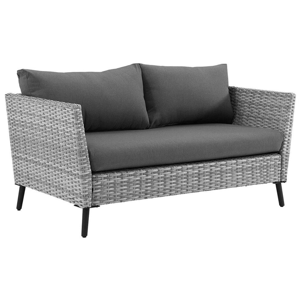 Crosley Furniture Richland Loveseat & Coffee Table in Grey, , large