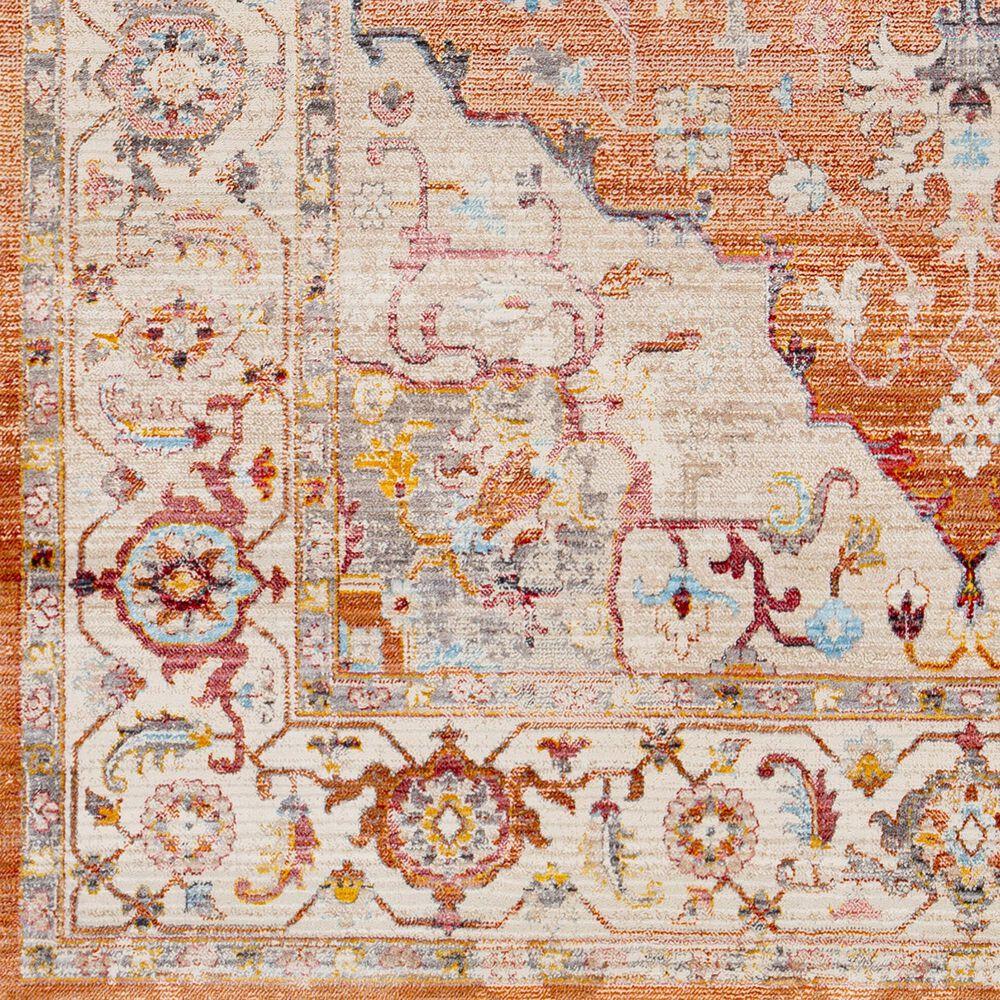 "Surya Ephesians 2'6"" x 4 Orange, Pink, Gray, Cream, Aqua and Camel Area Rug, , large"