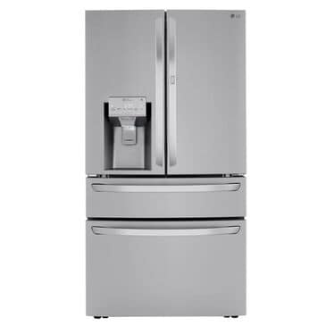 LG 23 Cu. Ft. Smart Wi-Fi Enabled Counter-Depth Refrigerator with Craft Ice Maker - Stainless Steel, Stainless Steel, large